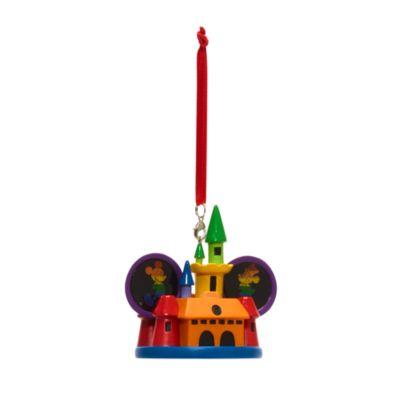 Disney Store Décoration Château arc-en-ciel Mickey et Minnie à suspendre