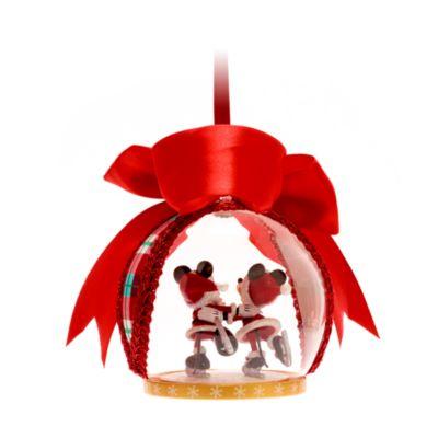 Walt Disney World adorno colgante navideño Mickey y Minnie