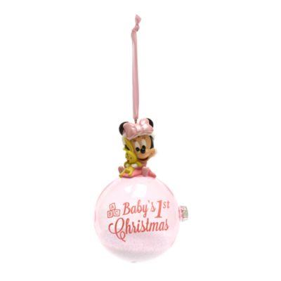 Disney Store Décoration Premier Noël Minnie à suspendre