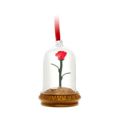 Disney Store - Verzauberte Rose - Dekorationsstück mit Beleuchtung zum Aufhängen