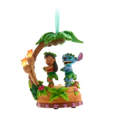 Disney Store Lilo and Stitch Singing Hanging Ornament