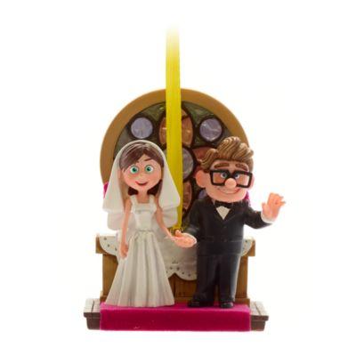 Disney Store Carl and Ellie Wedding Hanging Ornament