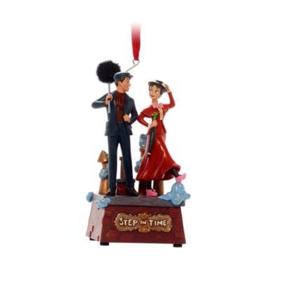 Disney Store Décoration musicale Mary Poppins et Bert à suspendre