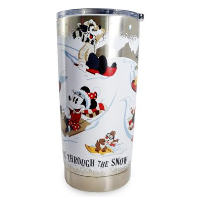 Disney Store Mickey and Friends Festive Travel Tumbler