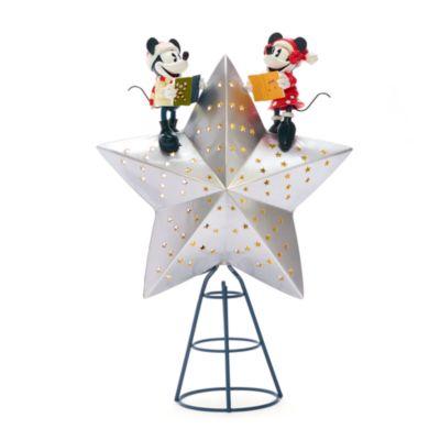 Disney Store Cime d'arbre de Noël Mickey et Minnie, Walt's Holiday Lodge