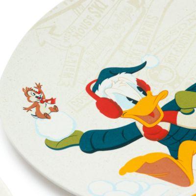 Disney Store Lot de 4assiettes Mickey Mouse et ses Amis, Walt's Holiday Lodge