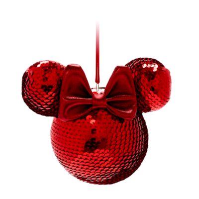 Disney Store Boule Tête de Minnie rouge à suspendre