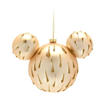 Disney Store Mickey Mouse Golden Icon Hanging Ornament