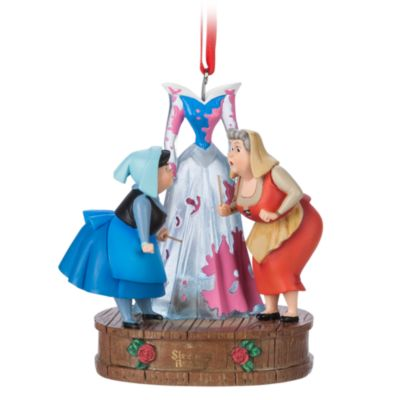 Disney Store Flora and Merryweather Light-Up Hanging Ornament