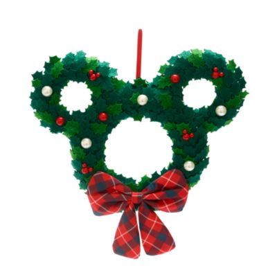 Disney Store Christmas Wreath, Mickey Mouse Icon, Walt's Holiday Lodge