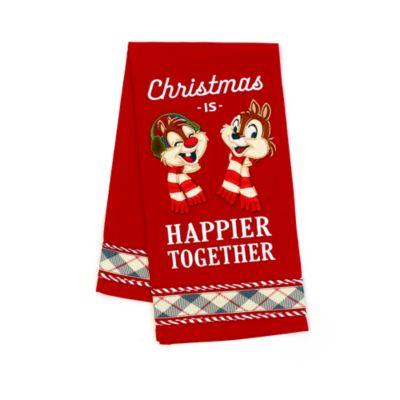 Disney Store Chip 'n' Dale Walt's Holiday Lodge Tea Towel