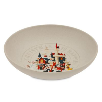 Disney Store Mickey Mouse and Friends Serving Bowl, Walt's Holiday Lodge