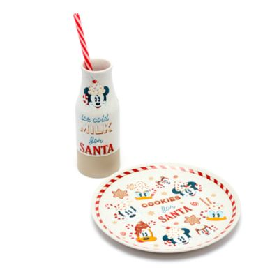 Disney Store Mickey Mouse and Friends Milk and Cookies Set, Walt's Holiday Lodge
