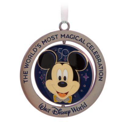Walt Disney World 50th Anniversary Mickey Mouse Spinning Ornament