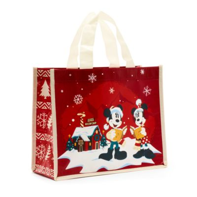 Disney Store Mickey and Minnie Walt's Holiday Lodge Reusable Shopper, Small