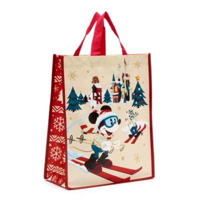 Borsa riutilizzabile standard a tema natalizio Topolino e amici Walt's Holiday Lodge Disney Store