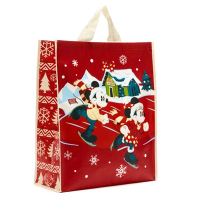 Disney Store Mickey and Minnie Walt's Holiday Lodge Reusable Shopper, Large