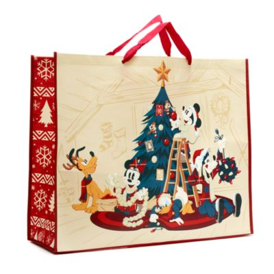 Disney Store Mickey and Friends Walt's Holiday Lodge Reusable Shopper, Extra Large