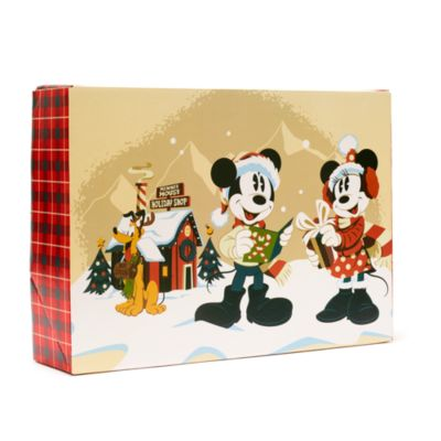 Disney Store Mickey and Friends Walt's Holiday Lodge Gift Box, Large