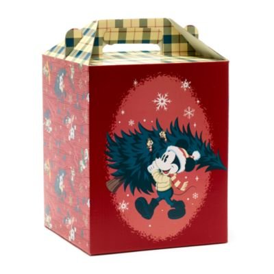 Disney Store Mickey and Friends Walt's Holiday Lodge Gift Box with Handle, Small