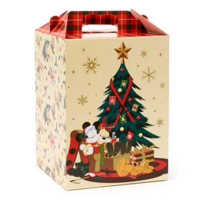 Disney Store Mickey and Friends Walt's Holiday Lodge Gift Box with Handle, Large