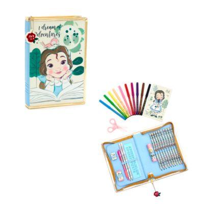 Disney Store Belle Disney Animators' Collection Zip-Up Stationery Kit