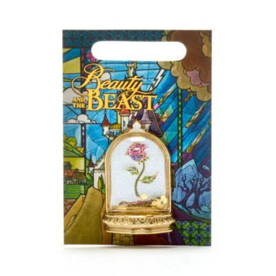 Disney Store Enchanted Rose Pin, Beauty and the Beast