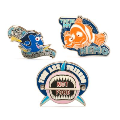 Disney Store Finding Nemo Pin Set