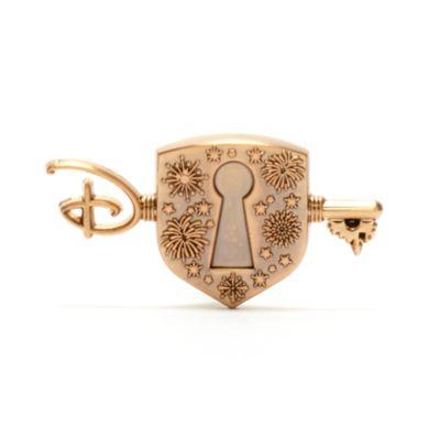 Disney Store - Anstecknadel mit Schloss und Schlüssel