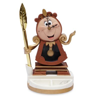 Disney Store Cogsworth Figurine with Pen