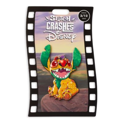 Disney Store Pin's broche Le Roi Lion, Stitch Crashes Disney,3sur12