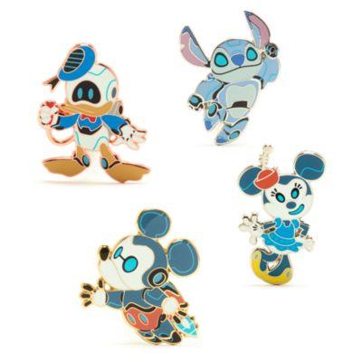 Disney Store - Micky und Freunde als Roboter - Anstecknadelset