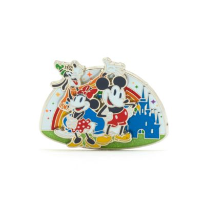 Walt Disney World Mickey, Minnie and Goofy Rainbow Disney Pin