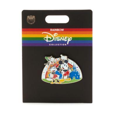 Walt Disney World - Rainbow Disney - Micky, Minnie und Goofy - Anstecknadel