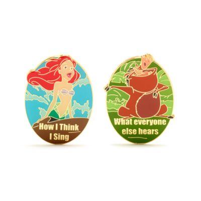 "Disney Store Ensemble de pin's ""How I Sing"" Ariel et Pumbaa"
