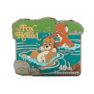 Pin 40.º aniversario Tod y Toby, Disney Store