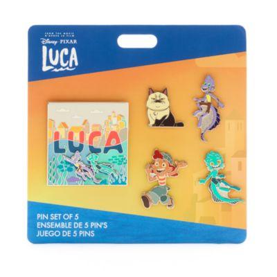 Set di pin Luca Disney Store