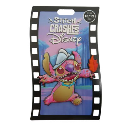 Disney Store Pin's broche Pocahontas, Stitch Crashes Disney,10sur12