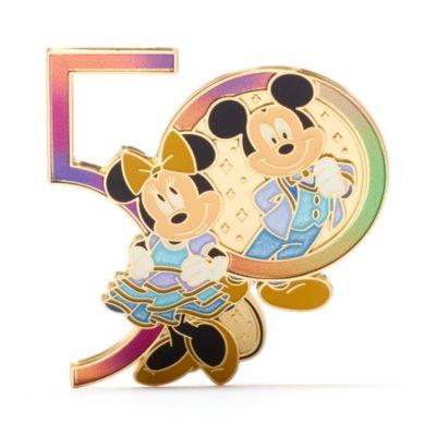 Walt Disney World - Micky und Minnie - Anstecknadel zum 50. Geburtstag