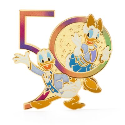 Walt Disney World Donald and Daisy 50th Anniversary Pin