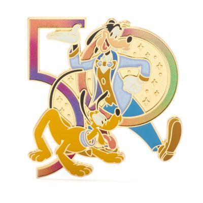 Walt Disney World - Goofy und Pluto - Anstecknadel zum 50. Geburtstag