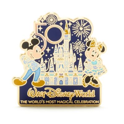 Walt Disney World pin 50.º aniversario Mickey y Minnie
