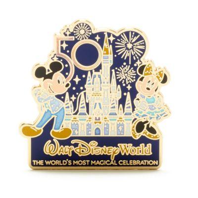 Walt Disney World Mickey and Minnie 50th Anniversary Pin