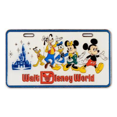 Walt Disney World Pin's Mickey et ses amis en forme de plaque d'immatriculation 50eanniversaire