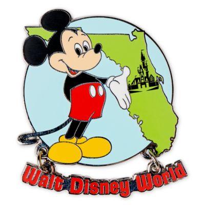 Walt Disney World - Micky und Freunde - Anstecknadel in Form einer Florida-Landkarte zum 50. Geburtstag