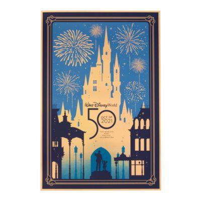 Disney Store Walt Disney World 50th Anniversary Print