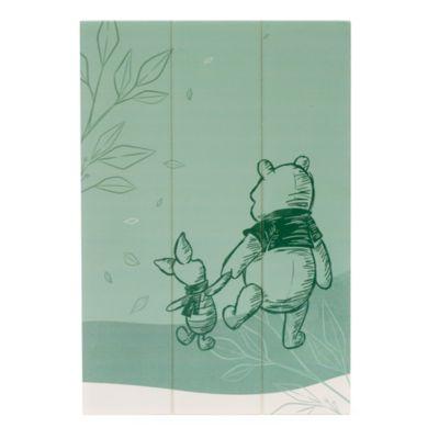 Estampado de madera de Winnie the Pooh y Piglet