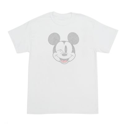 Mickey Mouse Rhinestones Customisable T-Shirt For Adults