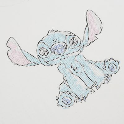 Stitch Rhinestones Customisable T-Shirt For Adults