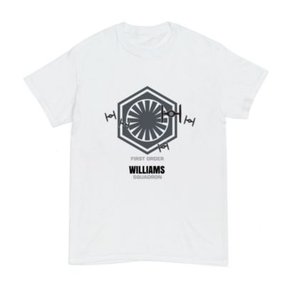 First Order Williams Squadron Customisable T-Shirt For Adults, Star Wars